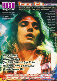 Tommy Bolin in Hush magazine