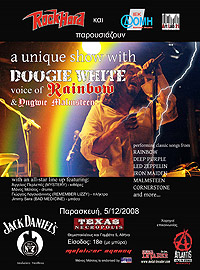 Doogie White live poster