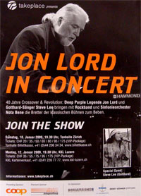 jon lord live poster