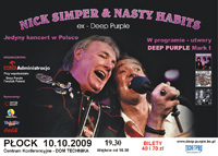 Nick Simper live in Poland, poster