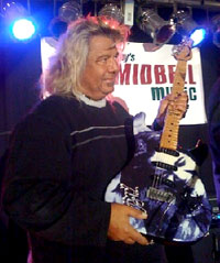 Johnnie Bolin with the new Tommy Bolin signature guitar